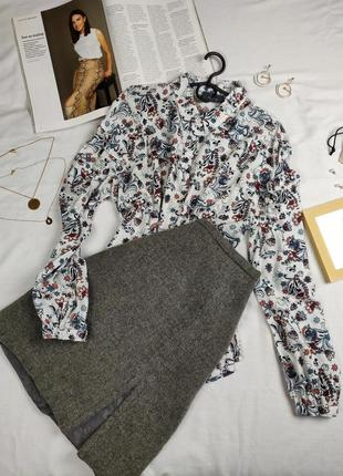 Стильная рубашка в цветочный принт jessica