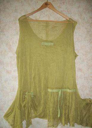 Туника\платье\майка\накидка\блуза\ пляжная прозрачная сеточка большой размер батал