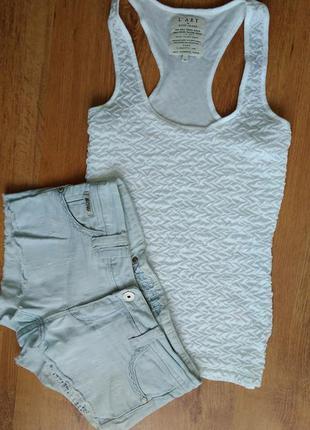 Комплект стильные шорты с майкой рр.с-м. от river island