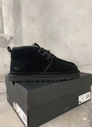 Мужские ботинки ugg black зимние утеплённые угги