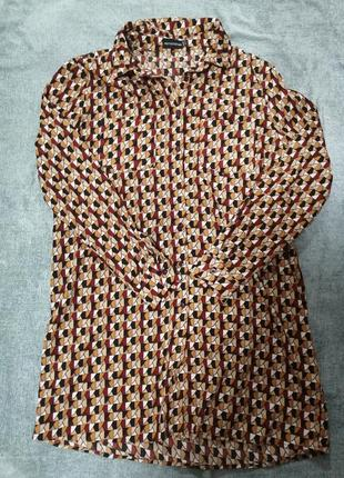 Платье рубашка, удлиненная рубашка