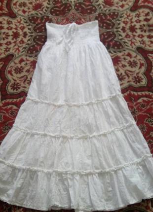 Батистовая юбка marks & spencer