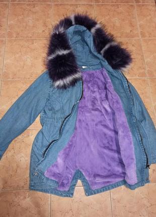 Куртка парка джинсовка