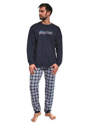 Мужской хлопковый домашний комплект синего цвета cornette 115/157 street wear