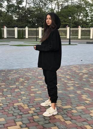 Модний спортивний костюм джогери і худи з капюшоном на флісі