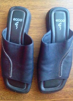 Рр 4-22,5 см стильные кожаные шлепанцы от ecco.