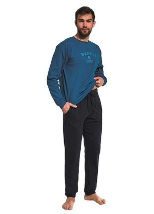 Мужской хлопковый домашний комплект синего цвета cornette 322/162 wake up