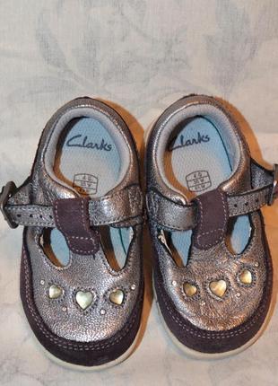 Красивенькие туфельки, clarks, 20 размер