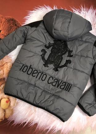 Дутая куртка демисезонная тёплая серая куртка