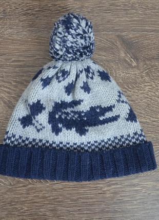 Теплая трендовая шапка lacoste ® beanie hats