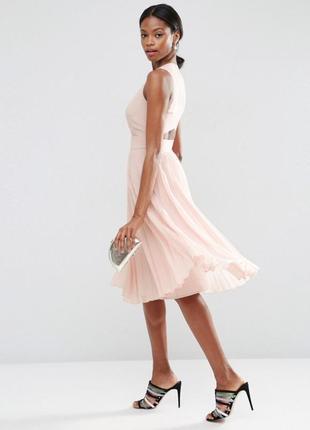 Плиссированное платье-миди asos