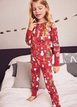 2-3 года, пижама слип  в новогодней тематике next.
