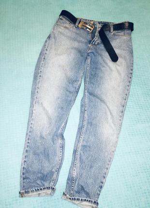 Стильные джинсы мом бойфренды высокая посадка