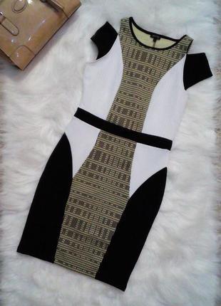 Изумительное платье по фигуре colorblock bodycon от river island