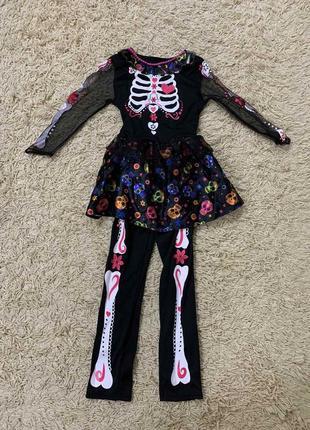 Карнавальный костюм скелет на 7-8 лет хеллоуин