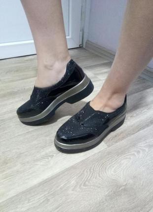 Туфли с люрексом