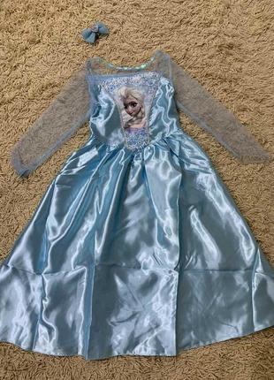 Карнавальное платье эльза на 7-8лет