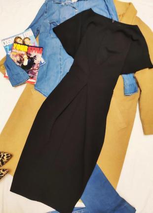 Next платье чёрное классическое миди футляр карандаш по фигуре