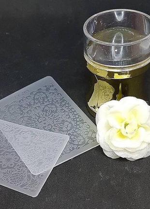 Штамп для стемпинга силиконовый + 2 пластины (дно прозрачное)