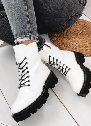 Ботинки белые зимние