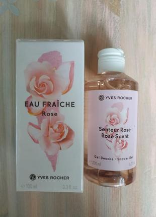 Набор роза туалетная вода 100 мл+ парфюмированный гель для душа 200 мл