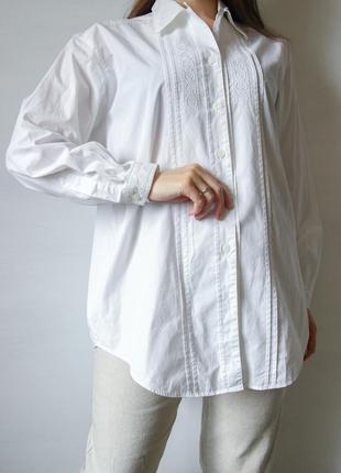 Невероятно красивая белая рубашка с вышивкой от st michael.