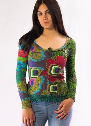 Реглан женский разноцветный desigual (xs)