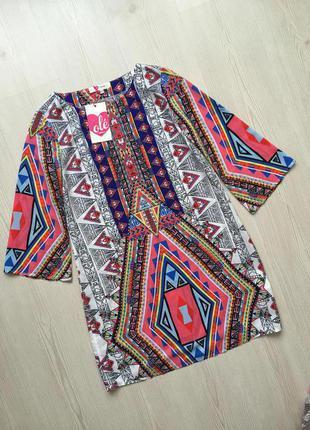Яркое платье - туника от koton