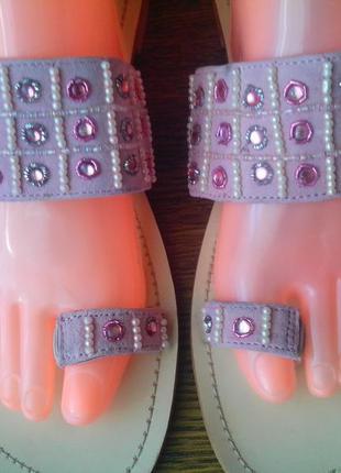 Стильные кожаные шлепанцы от barisal. стелька 26,2 см.
