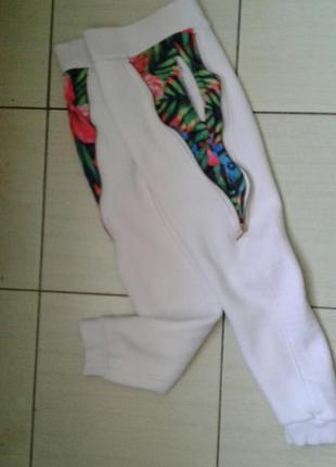 Теплые штаны с начесом на девочку рост 134-140 см