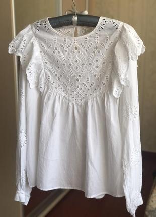 Hm блуза с вышивкой