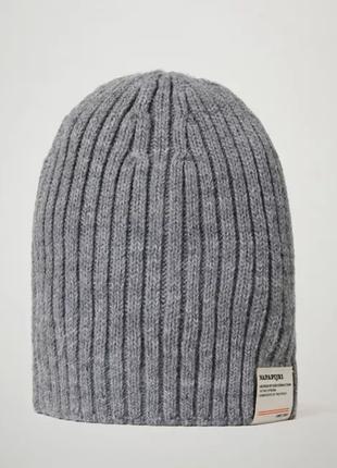 Оригинальная шапка napapijri (напапири)flos med grey mel(np0a4emd160)