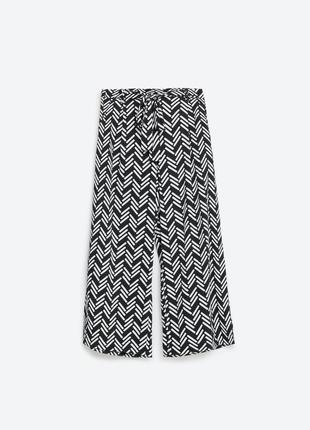 Укороченные брюки кюлоты zara trafaluc