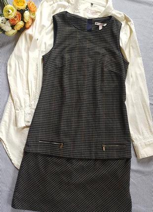 Актуальное платье сарафан на подкладке  а-силуэта