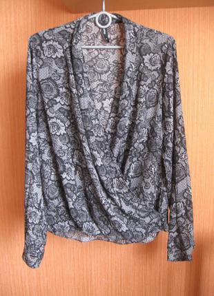 Блузка на запах стильная бренд flame