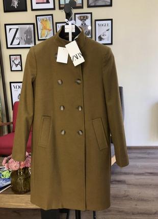 Очень крутое пальто zara шерсть!