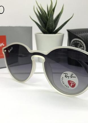 Солнцезащитные очки rayban с поляризацией  rb4380 полупрозрачная оправа