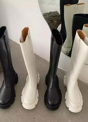 Высокие сапоги ботинки ботильоны сапоги до колена ботинки на тракторной подошве