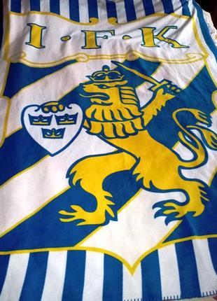 Флисовый плед с символикой i.f.k goteborg