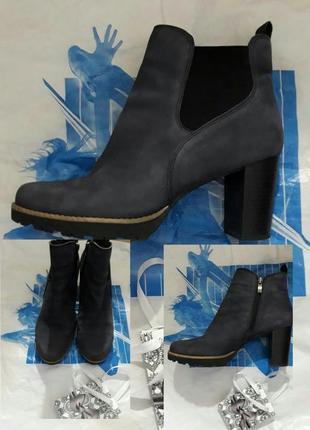 40-41 кожаные сапожки бренд