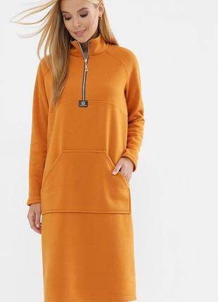 Теплое платье из трехнитки с начесом