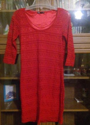 Супер красное платье от oodji