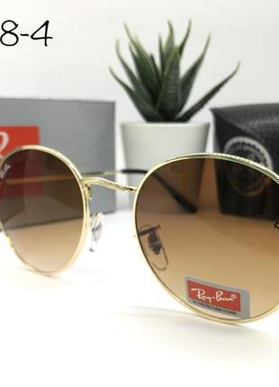 Солнцезащитные очки rayban rb3448-4 коричневые линзы