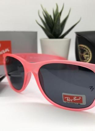 Ray ban очки унисекс солнцезащитные  rb2215 розовые с фигурными дужками