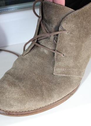 Очень удобные ботинки натуральная замша