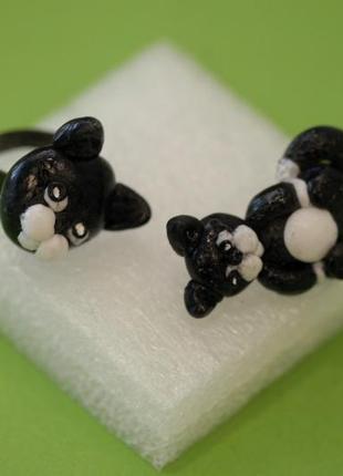 Комплект украшений черный кот