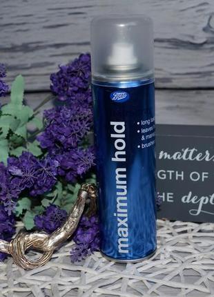 Лак для волос максимальной фиксации с ароматом boots essential hairspray maximum hold