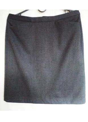 Классическа серая юбка,размер s-m