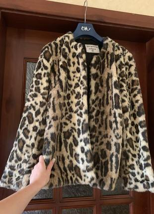 Шуба леопард