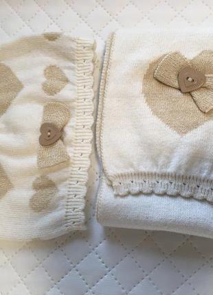 Комплект шапка и шарф boboli. фирменный набор весна осень